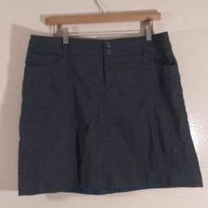 REI Embroidered Green Hiking Outdoor Skirt 14